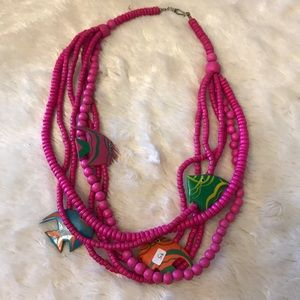 Jewelry - Pink Fish Necklace